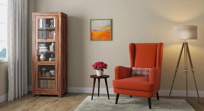 Murano Bookshelf/Display Cabinet (55-book capacity) (Teak Finish) by Urban Ladder - Design 1 Full View - 161508