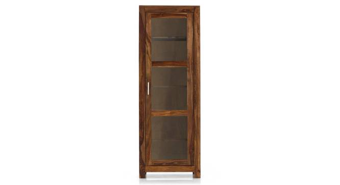 Murano Bookshelf/Display Cabinet (55-book capacity) (Teak Finish) by Urban Ladder - Front View Design 1 - 161509