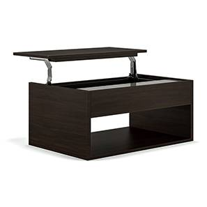 Alita Laptop Coffee Table (Dark Oak Finish) by Urban Ladder - Design 1 - 138152