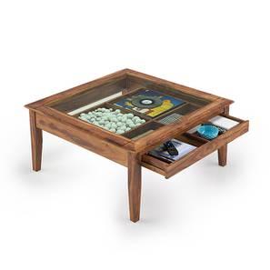 Tate Display Coffee Table (Teak Finish) by Urban Ladder - Design 1 Full View - 160605