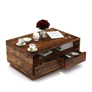 Zephyr Storage Coffee Table (Teak Finish) by Urban Ladder - Design 1 Full View - 293621