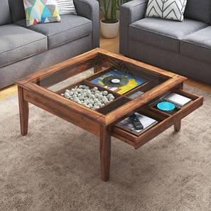 Tate Display Coffee Table (Teak Finish) by Urban Ladder - Design 1 Full View - 160605