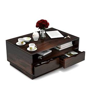 Zephyr Storage Coffee Table (Mahogany Finish) by Urban Ladder - Design 1 Full View - 293614