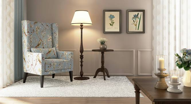 Morgen Wing Chair (Blue Nightingale) by Urban Ladder - Design 1 Full View - 162178