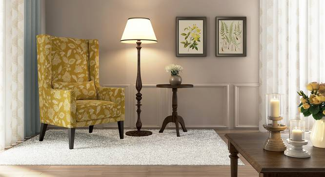 Morgen Wing Chair (Olive Vines) by Urban Ladder - Design 1 Full View - 162186