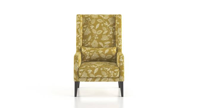 Morgen Wing Chair (Olive Vines) by Urban Ladder - Front View Design 1 - 162187