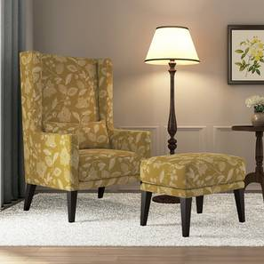 Morgen wing chair with ottoman olive lp
