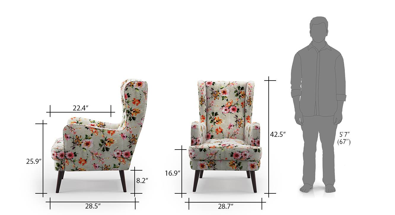 Genoa wing chair floral 7
