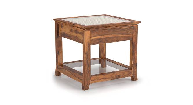 Fujiwara Bedside Table (Teak Finish) by Urban Ladder - Front View Design 1 - 162451