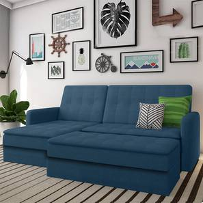 Peckham sectional sofa cum bed blue with ottoman revised lp