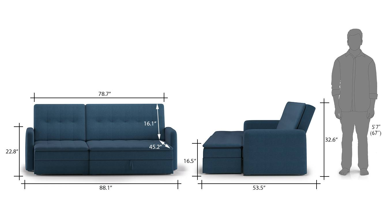 Peckham sofa cum bed blue 11