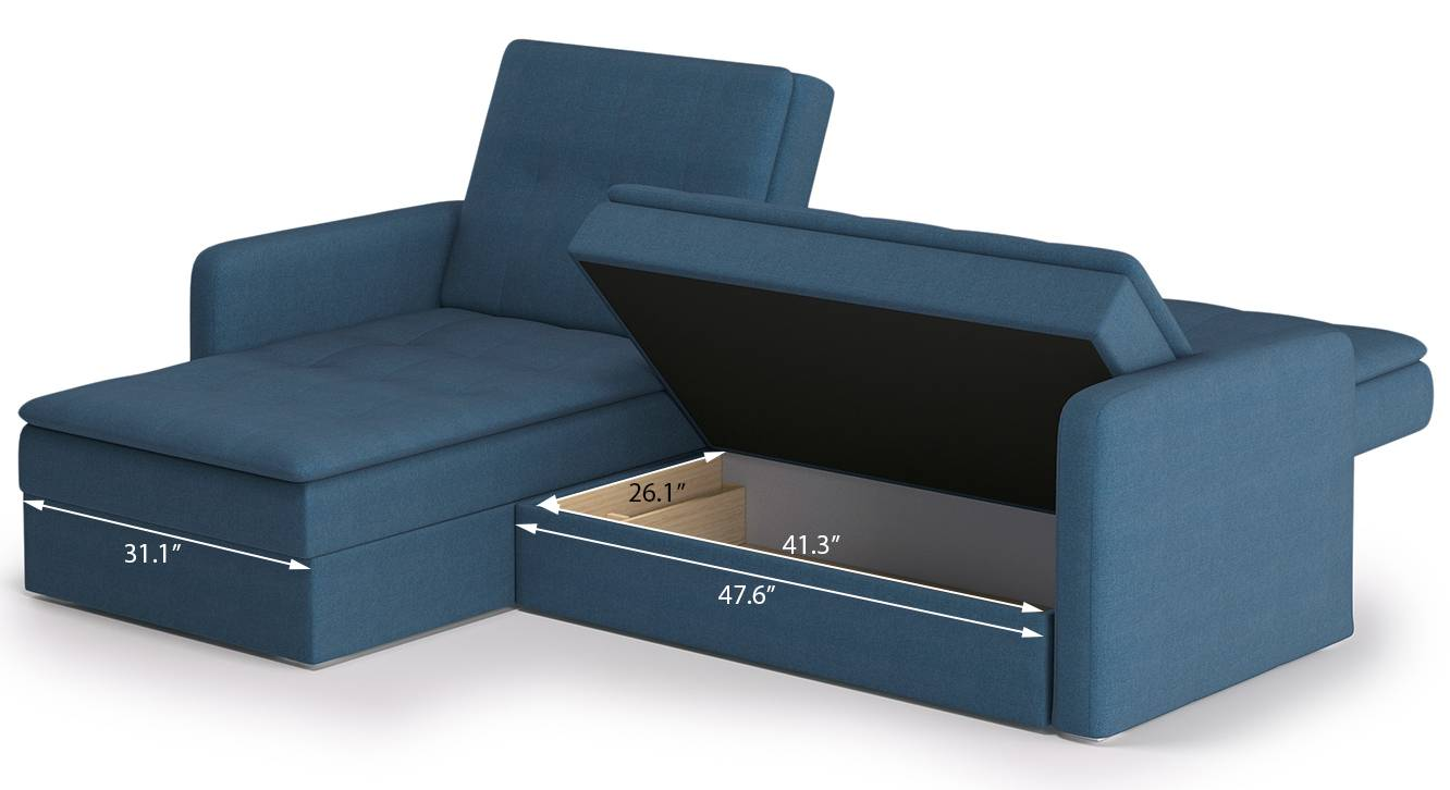 Peckham sofa cum bed blue 14