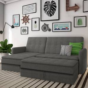 Peckham sectional sofa cum bed grey with ottoman revised lp