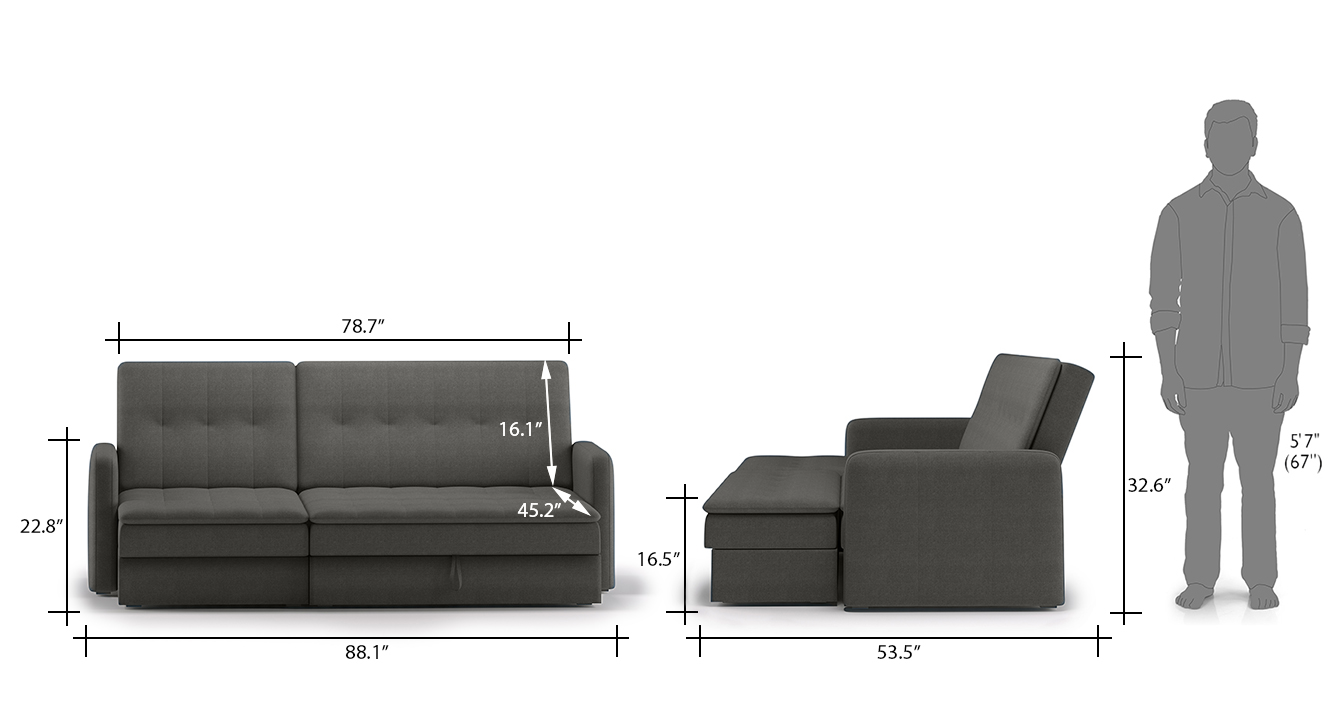 Peckham sectional sofa cum bed grey with ottoman revised 13