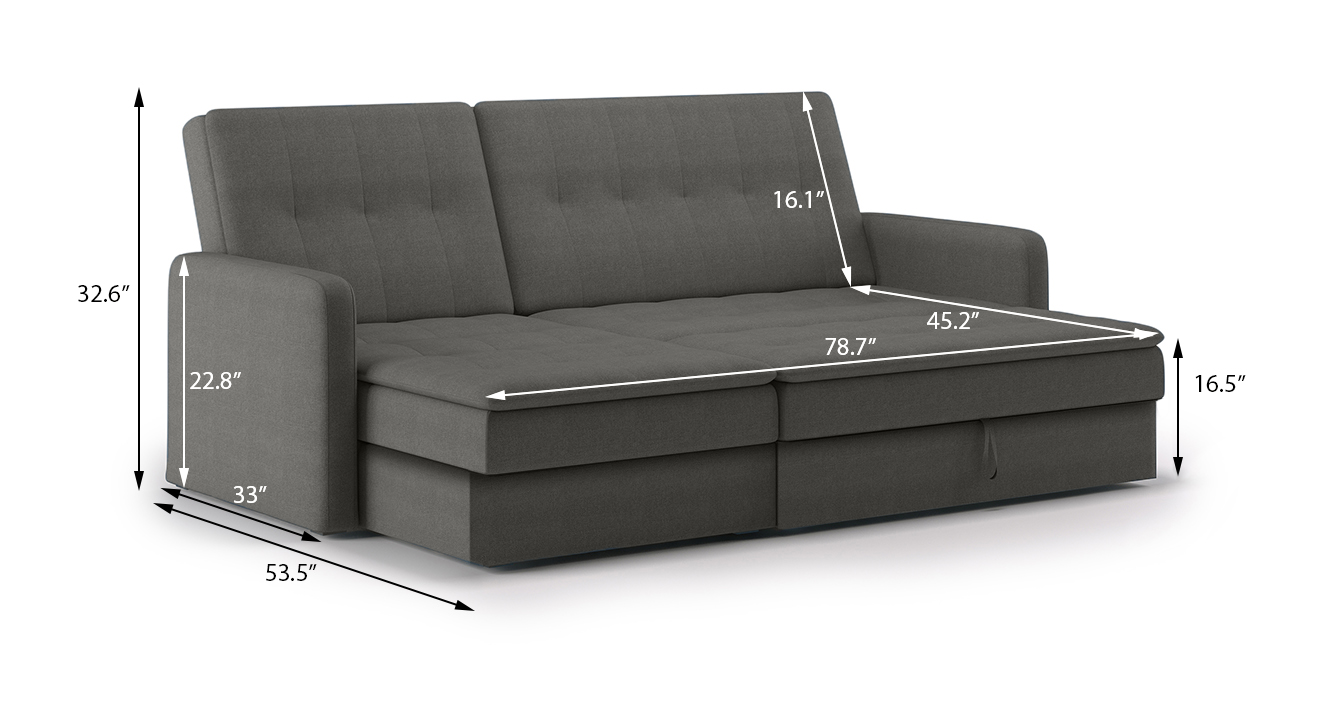 Peckham sectional sofa cum bed grey with ottoman revised 12