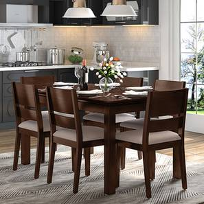 Diner cabalo fabric 6 seater dining table set lp