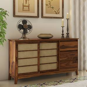 Fujiwara Wide Sideboard (Teak Finish) by Urban Ladder - Front View Design 1 - 162650