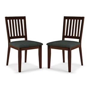 Diner Dining Chairs - Set of 2 (With Upholstery) (Dark Walnut Finish) by Urban Ladder