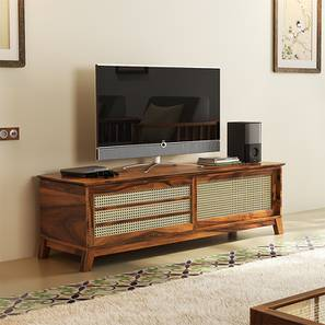 Fujiwara TV Unit (Teak Finish) by Urban Ladder - Front View Design 1 - 162471