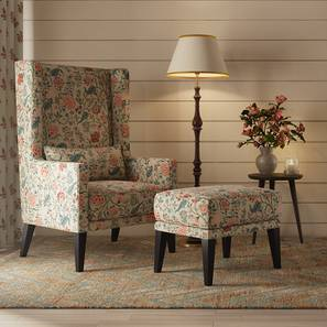 Morgen Wing Chair & Ottoman (Calico Print) by Urban Ladder - Design 1 Full View - 163313