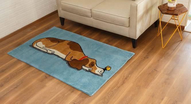 "Snoozy Pet Handtufted Carpet (91 x 152 cm  (36"" x 60"") Carpet Size) by Urban Ladder - Design 1 Full View - 163649"