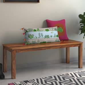Capra Bench (Teak Finish) by Urban Ladder - Design 1 Full View - 163896