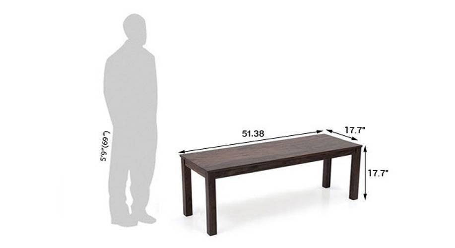 Capra bench mahogany 21