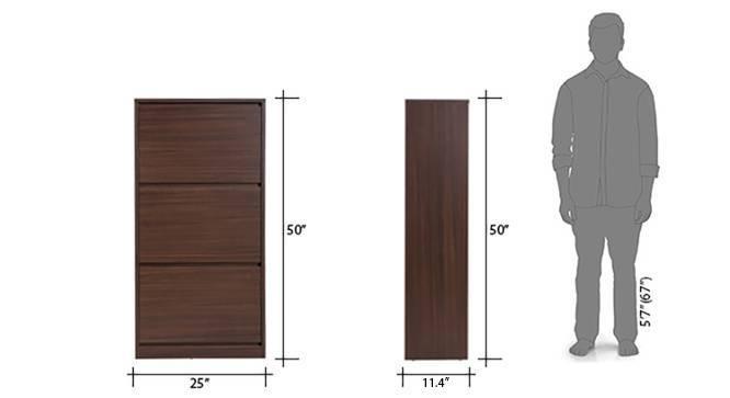 Pointe shoe cabinet 21 pair simple dark walnut 9