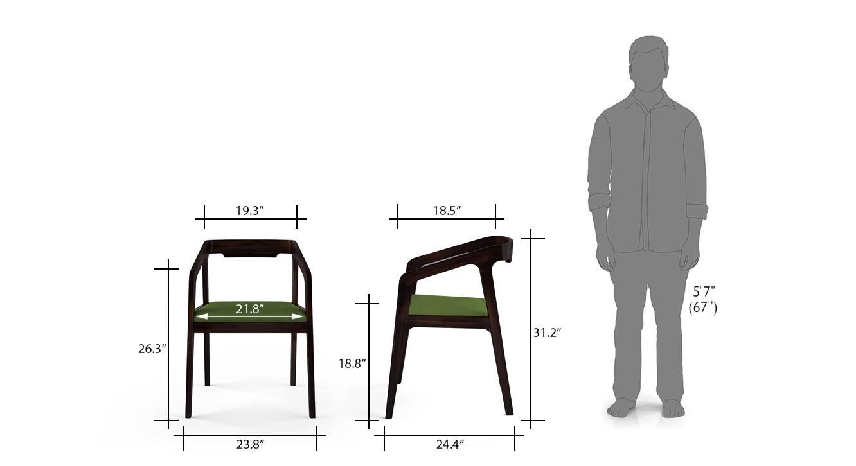 Alphonse chair mahogany green 6