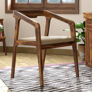 Alphonse Study Chair (Teak Finish, Wheat Brown) by Urban Ladder