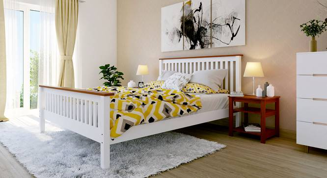 Athens Bed (Queen Bed Size, White Finish, Yes) by Urban Ladder