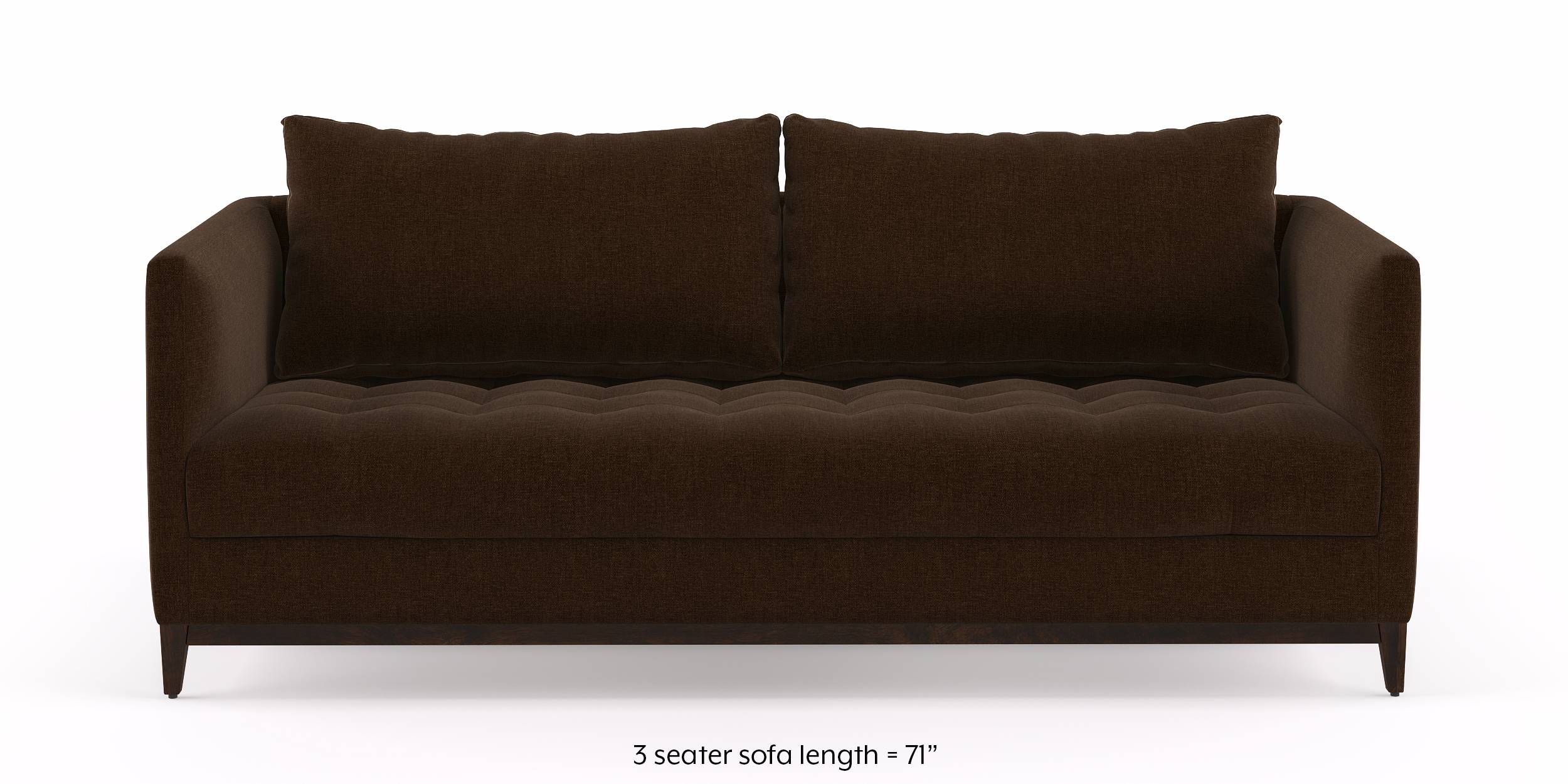 Florence Compact Sofa  (Dark Earth) by Urban Ladder