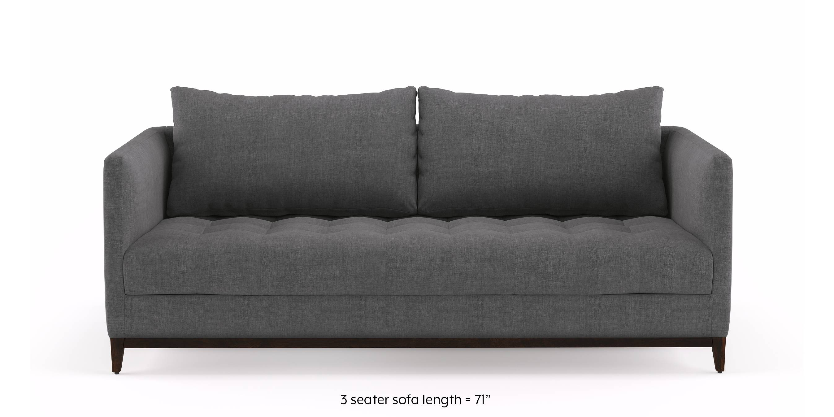 Florence Compact Sofa (Smoke Grey) by Urban Ladder