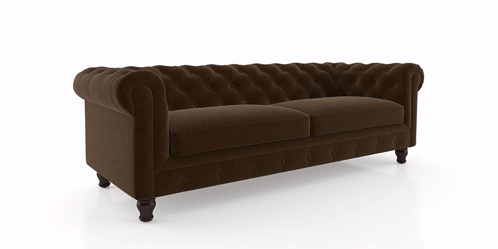 Winchester Fabric Sofa (Dark Earth) by Urban Ladder