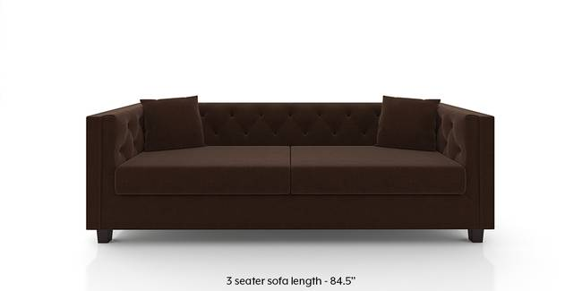 Windsor Sofa (Dark Earth) (1-seater Custom Set - Sofas, None Standard Set - Sofas, Dark Earth, Fabric Sofa Material, Regular Sofa Size, Regular Sofa Type)
