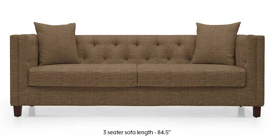 Windsor Sofa (Dune Brown) (Dune, Fabric Sofa Material, Regular Sofa Size, Regular Sofa Type) by Urban Ladder