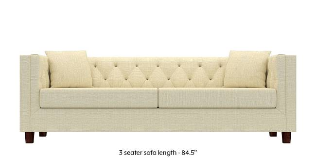 Windsor Sofa (Ivory White) (Ivory, Fabric Sofa Material, Regular Sofa Size, Regular Sofa Type)