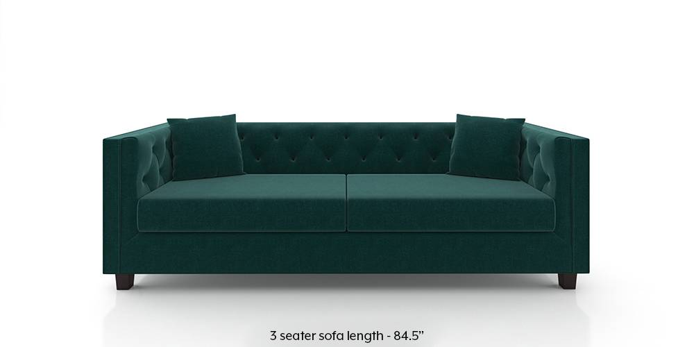 Windsor Sofa (Malibu Blue) (Fabric Sofa Material, Regular Sofa Size, Malibu, Regular Sofa Type) by Urban Ladder