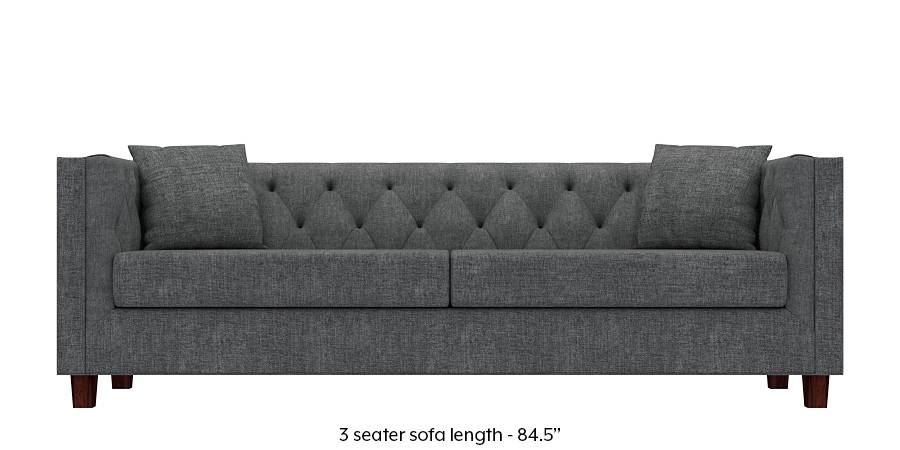 Windsor Sofa (Smoke Grey) (Smoke, Fabric Sofa Material, Regular Sofa Size, Regular Sofa Type) by Urban Ladder