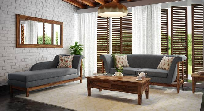 Malabar Chaise (Teak Finish, Right Aligned Chaise (Individual) Custom Set - Sofas, Smoke) by Urban Ladder