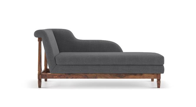 Malabar Chaise (Teak Finish, Right Aligned Chaise (Individual) Custom Set - Sofas, Smoke) by Urban Ladder - Front View Design 1 - 169918