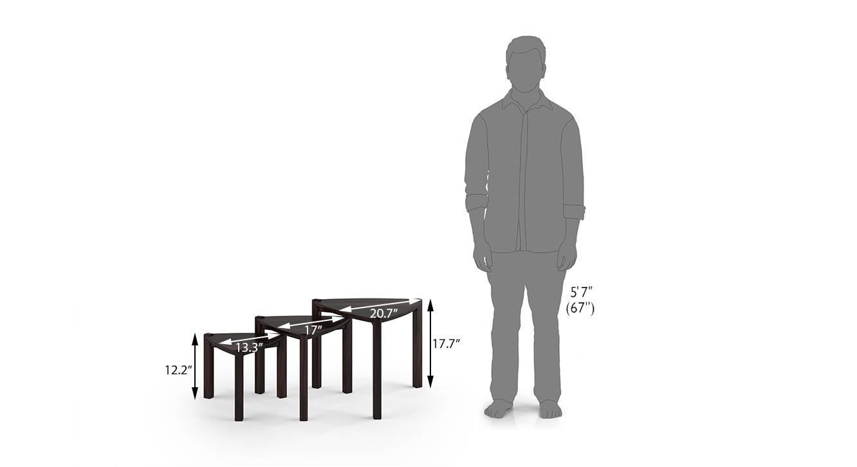 Clapton nested table mahogany 6
