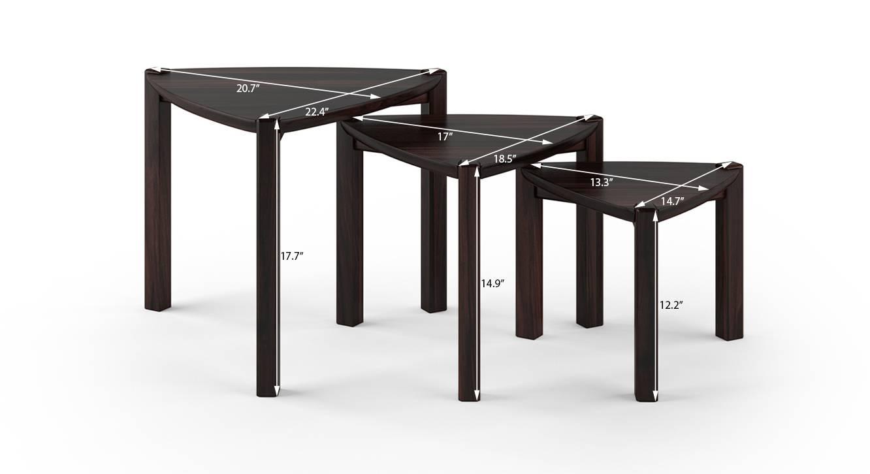 Clapton nested table mahogany 7