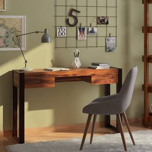 Austen Compact Desk (Two-Tone Finish) by Urban Ladder - - 1715