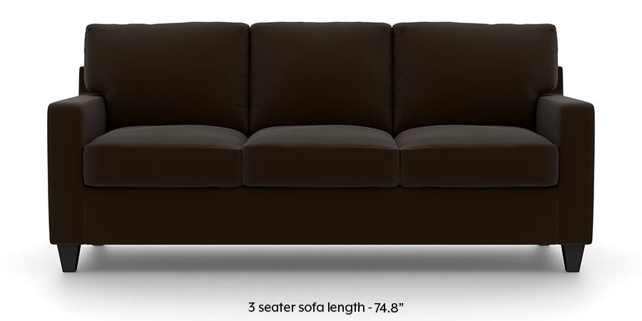 Walton Leatherette Sofa (Chocolate) (Chocolate, Leatherette Sofa Material, Regular Sofa Size, Regular Sofa Type) by Urban Ladder