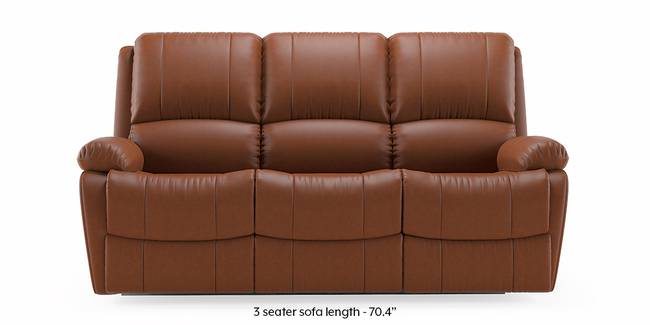 Tribbiani Recliner Sofa Set (Tan Leatherette) (3-seater Custom Set - Sofas, None Standard Set - Sofas, Leatherette Sofa Material, Regular Sofa Size, Regular Sofa Type, Tan Leatherette)