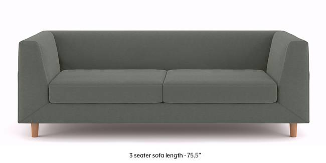 Rubik Sofa (Charcoal Grey) (3-seater Custom Set - Sofas, None Standard Set - Sofas, Charcoal Grey, Fabric Sofa Material, Regular Sofa Size, Regular Sofa Type)