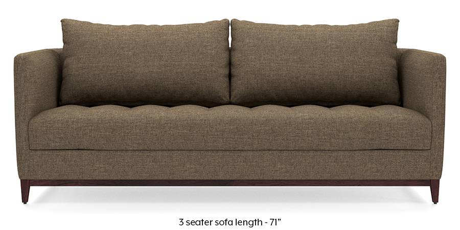 Florence Compact Sofa (Dune Brown) (Dune, Fabric Sofa Material, Compact Sofa Size, Regular Sofa Type) by Urban Ladder - - 173137