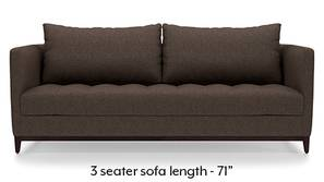 Florence Compact Sofa (Mocha Brown)