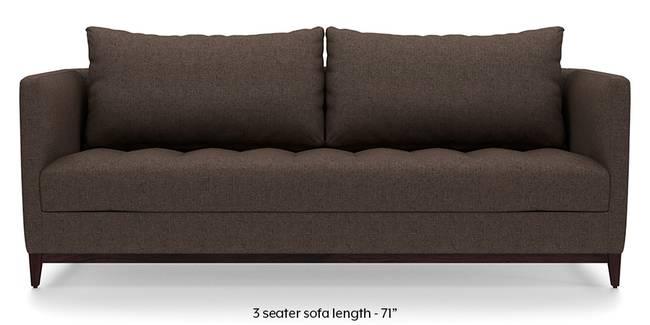 Florence Compact Sofa (Mocha Brown) (Mocha, Fabric Sofa Material, Compact Sofa Size, Regular Sofa Type)